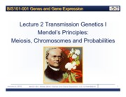 Lecture+2+Topic+II+Transmission+Genetics+I