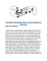 Creative Writing Entry 10