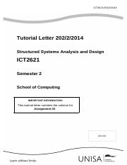 ICT2621_202_2014_2_b - Solution to Assignment 2 S2 2014