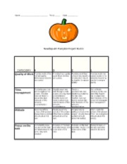 Pumpkin Needlepoint Rubric
