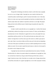 Criticism and Theory Essay on Copyright Laws