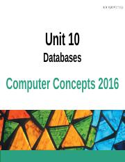 Chapter 10 - Databases