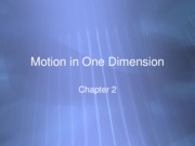 Lecture 5 PowerPoint - 1 D Motion cont  ---   Updated