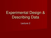 Lecture2 Exp Design & Descriptives