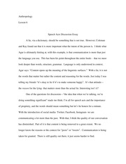 speech act discussion essay