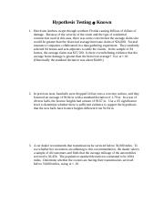 Hypothesis Testing 1(2)