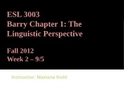 Week 2_Linguistics persective