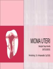 75213656 Referat Mioma Uteri Pendahuluan Mioma Uteri Dikenal Juga Dengan Sebutan Fibromioma Fibroid Ataupun Leiomioma Merupakan Neoplasma Jinak Yang Course Hero
