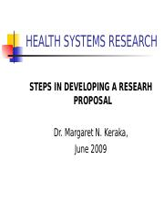 Lesson 3 Steps in Developing a research proposal
