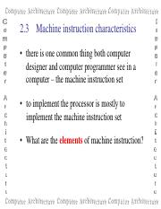 Instruction sets: characteristics and functions  software and.