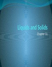 Lecture 6 Liquids and Solids PRE