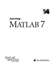 Learn Matlab 7.0