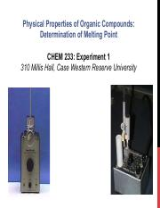 CHEM233 - Experiment1 Lecture Melting point(1).pdf