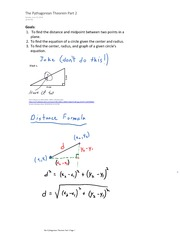 The Pythagorean Theorem Part 2