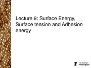 Surface Energy, Surface tension and Adhesion energy