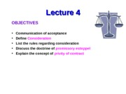 Business Law -Lecture 4