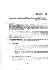 10 - separate & consolidated fs - stock acquisition