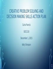 Creative Problem Solving & Decision Making - Carla Francis