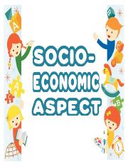 SOCIO ECONOMIC FOR COMPILATION