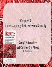 Ch 3 Understanding Basic Network Security