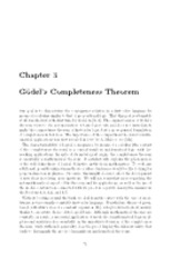 Chapter 3 Godel Copleteness Theorem