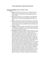 Western Humanities 2 Final Exam Study Guide