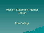 HSM 220 Week 2 Assignment Mission Statement Internet Search