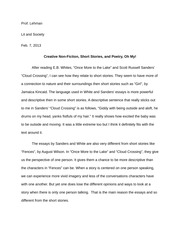 Lit and Society Essays and Short Stories Comparision