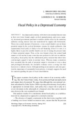 Fiscal Policy in a Depressed Economy