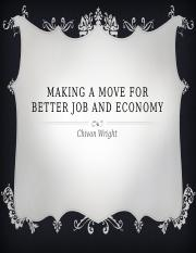 Making A Move for Better job and economy