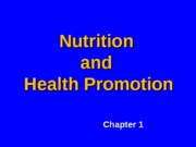 1_Nutrition and Health Promotion_2013