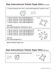 Basic instructions for tublar peyote stitch even count (printed)