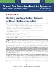 Strategy Core Concepts and Analytical Approaches - Chapter 10
