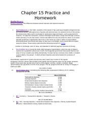 Chapter 15 Homework and Practice