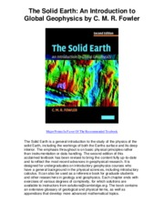 The Solid Earth An Introduction to Global Geophysics by C M R Fowler - 5 Star Book Review