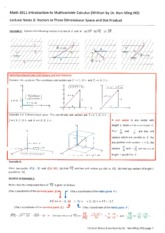 Lecture Notes 2 Vectors in Three dimensional Space and Dot Product.pdf