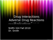 8-26 Drug Interactions, ADRs, Errors