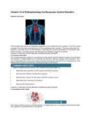 Chapter 12 of Pathophysiology Cardiovascular System Disorders.docx