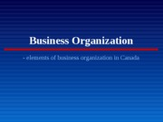 Business Organization
