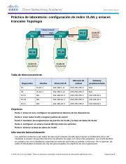 Lab - Configuring VLANs and Trunking.docx