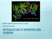 Introduction to Interpro and Chimera