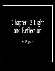 c-12 Light and Reflection.ppt