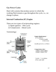 Gas Power Cycle Notes