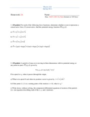 Physics 325 Spring 2011 Homework 2