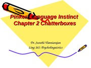 Pinker Chapter 2