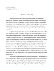 Essay on anthropology