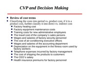 Lecture 15 CVP and Decision Making
