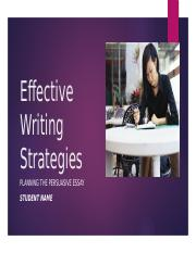 Apply 1-1 Effective Writing Strategies