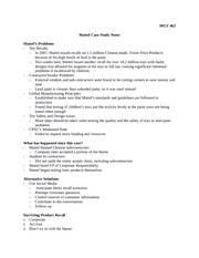 MGT 462 Mattel Case Study Notes