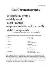 NOTE Packet GC+MS2017 v2 pdf - Gas Chromatography Gas
